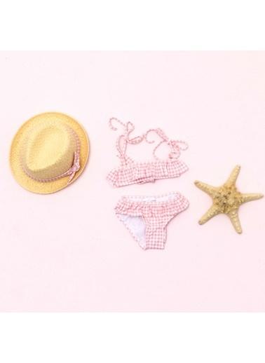 Pinolini Pembe Çizgili Bikini Pembe